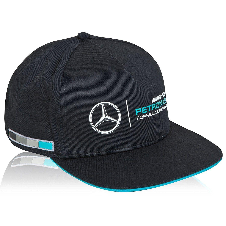 Mercedes Benz Petronas AMG Formula 1 Black Classic Hat Cap w Team Logo 3730ebdacfa