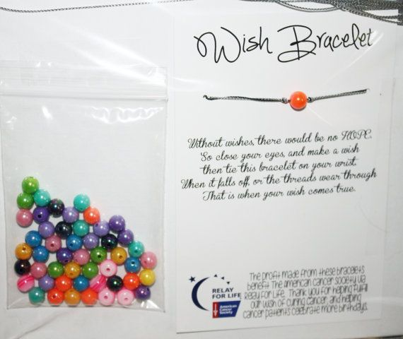 Relay For Life Diy Wish Bracelet Fundraiser Supplies This Is A Whole Kit To Make 50 Bracelets