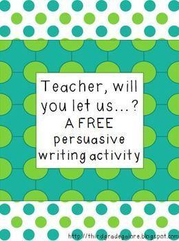 Persuasive writing activity freebie writing activities pinterest persuasive writing activity freebie spiritdancerdesigns Image collections