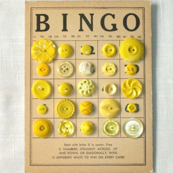 Yellow Bingo Buttons
