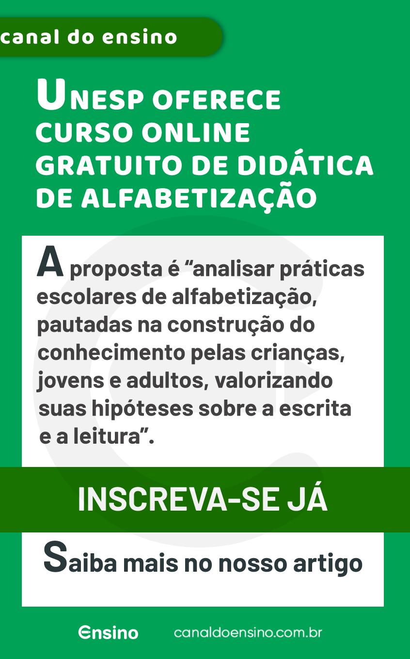 Unesp Oferece Curso Online Gratuito De Didatica De Alfabetizacao Alfabetizacao Cursos Gratuitos Teorias Pedagogicas