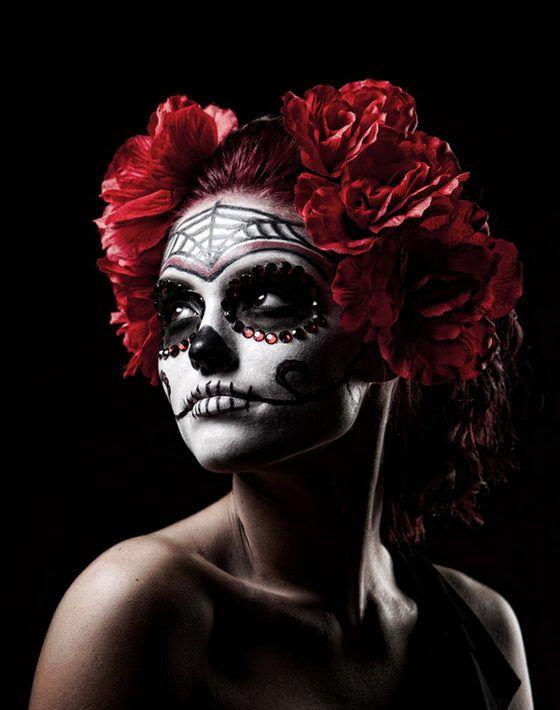 DIA De Los Muertos Sugar Skull Makeup   17 Amazing Día de los Muertos Sugar Skull Make-up Art