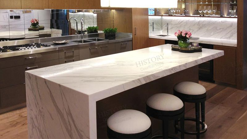 Best Italian Calacatta White Marble Kitchen Countertops Marble
