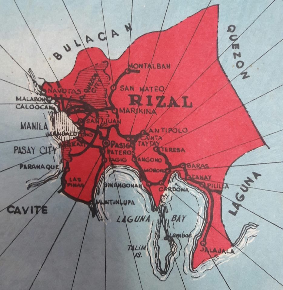 Rizal Philippines Map.Old Map Of Rizal Province Location Luzon Area Philippines Wayback