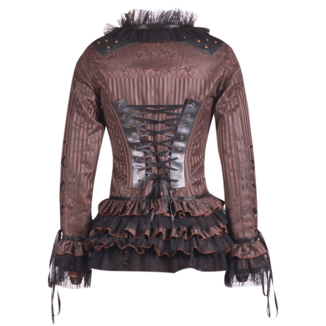 Photo of Steampunk Gothic Style Long Sleeve Corset Top