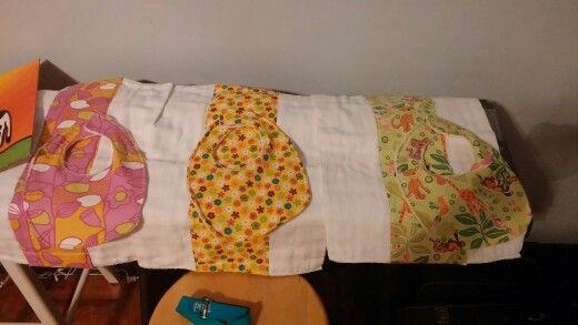 Burp cloths and matching bibs