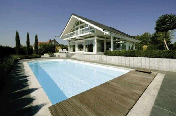 Huf pool | Self build houses, Grand designs, Prefab