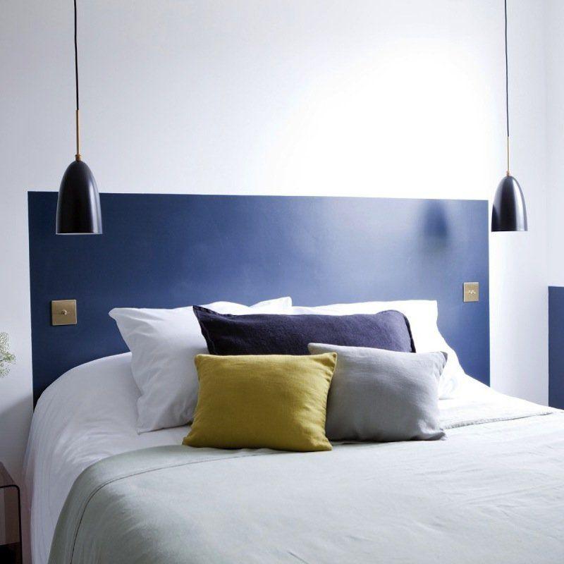 Une tête de lit colorée , diy tête de lit avec de la peinture déco - couleur peinture pour chambre a coucher