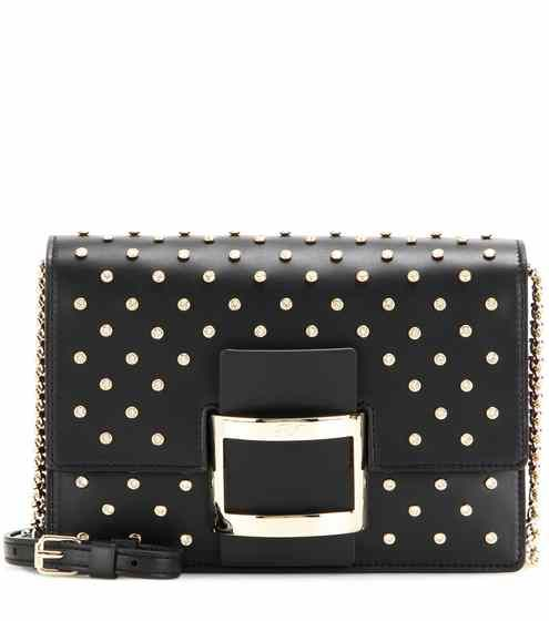 85976096c50 Viv Micro Cloutage embellished leather shoulder bag   Roger Vivier ...