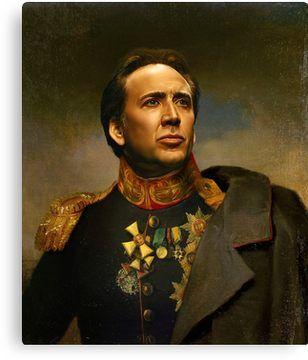 Nicolas Cage - replaceface Canvas Print