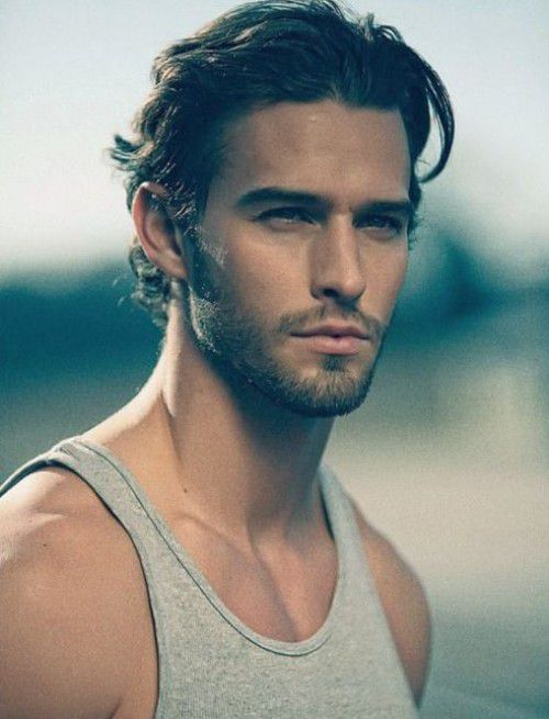 Long Mens Hairstyles 2015 Natural Textured Swept Back Styled ...