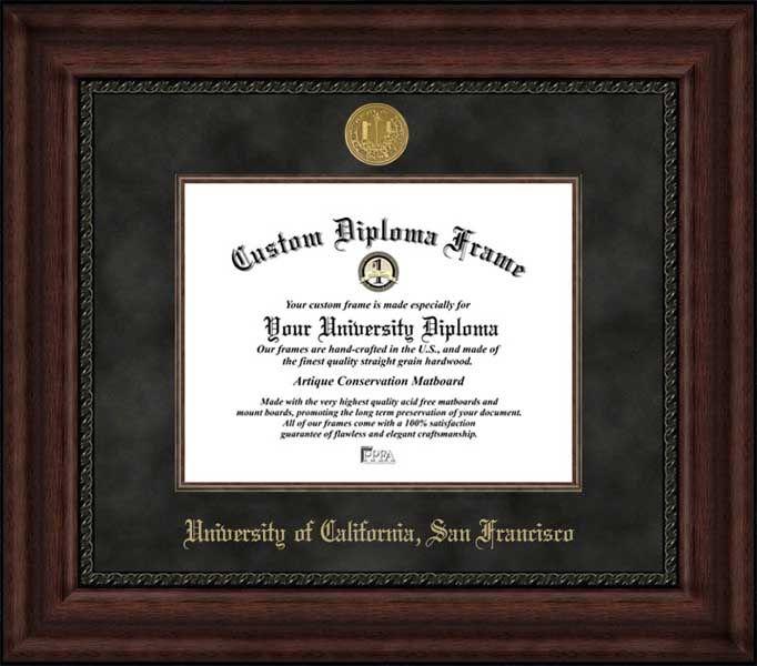 University of California San Francisco Diploma Frame - Gold ...