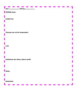 Reading Units Of Study Lesson Plan Template Lucy Calkins Units Of