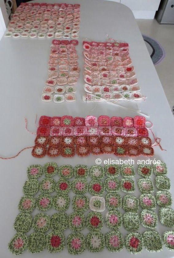 small grannies project | Ganchillo, Mantas, Manta crochet
