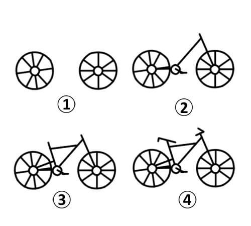 learn how to draw a cycle in multiple steps for kids it is very easy - Fun Easy Drawings For Kids