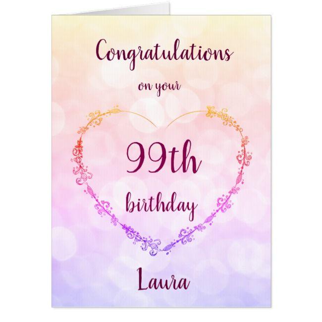 Giant Happy 99th Birthday Card Zazzle Com 65th Birthday Cards 21st Birthday Cards 90th Birthday Cards