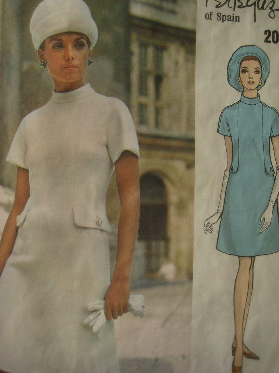 Vintage Vogue 2089 Sewing Pattern, Vogue Couturier, Pertegaz Design, 1960s Mod Dress Pattern,  Bust 34, 1960s Dress Pattern, Designer on Etsy, $27.20 AUD