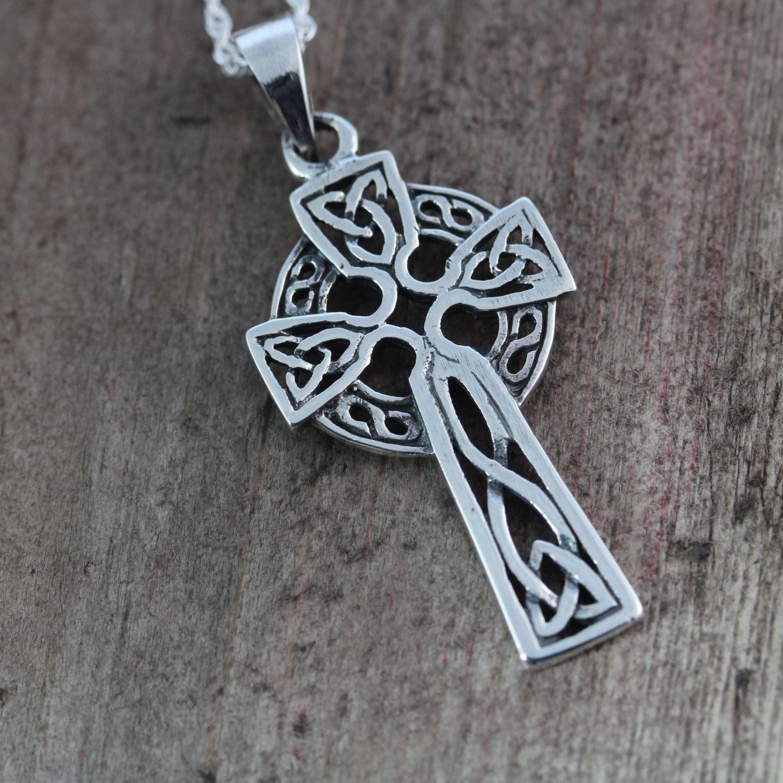 Sterling Silver Celtic Cross Jewelry Irish