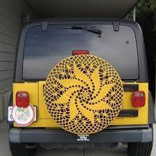 Crochet A Tire Cover Crochet Car Doilies Yarn Bombing