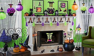 kid friendly halloween decorations party city