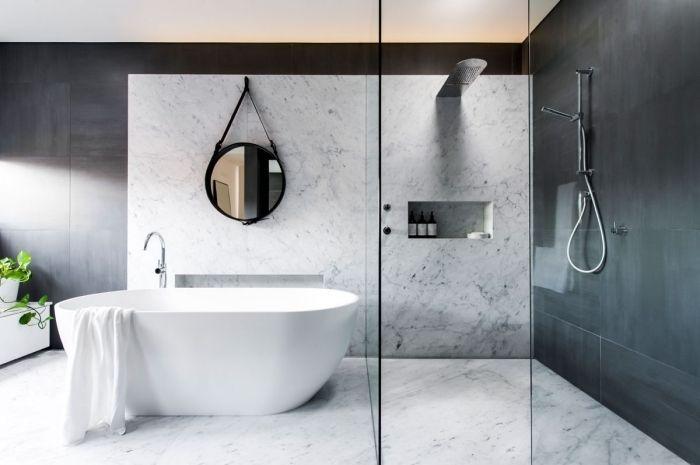 ▷ 1001 + idées pour créer une salle de bain nature Pinterest - Salle De Bain Moderne Grise