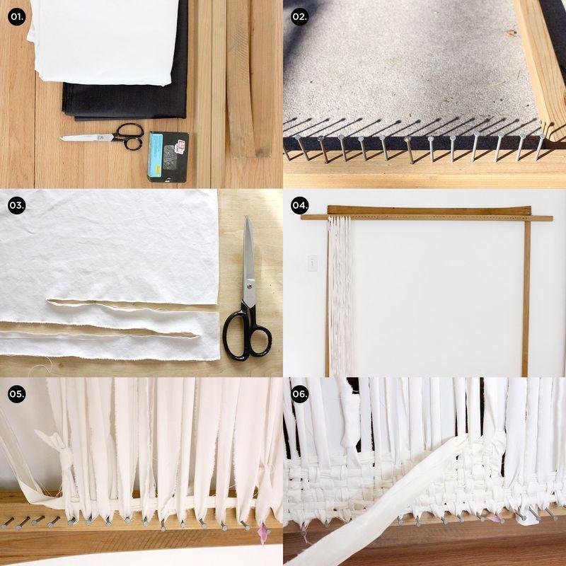 Diy Woven Rug 1 Supplies 4 Yrds Of Black Fabric Yardage