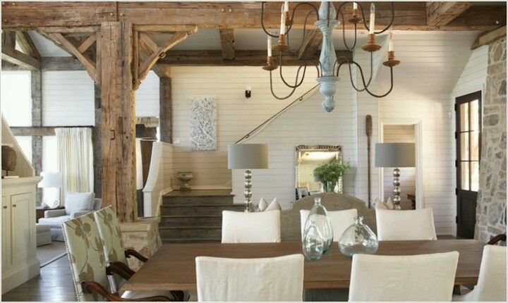 Simple living and dining area
