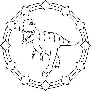 Mandala dinosaur tyrannosaurus rex baby blanket 5 - Mandala dinosaure ...