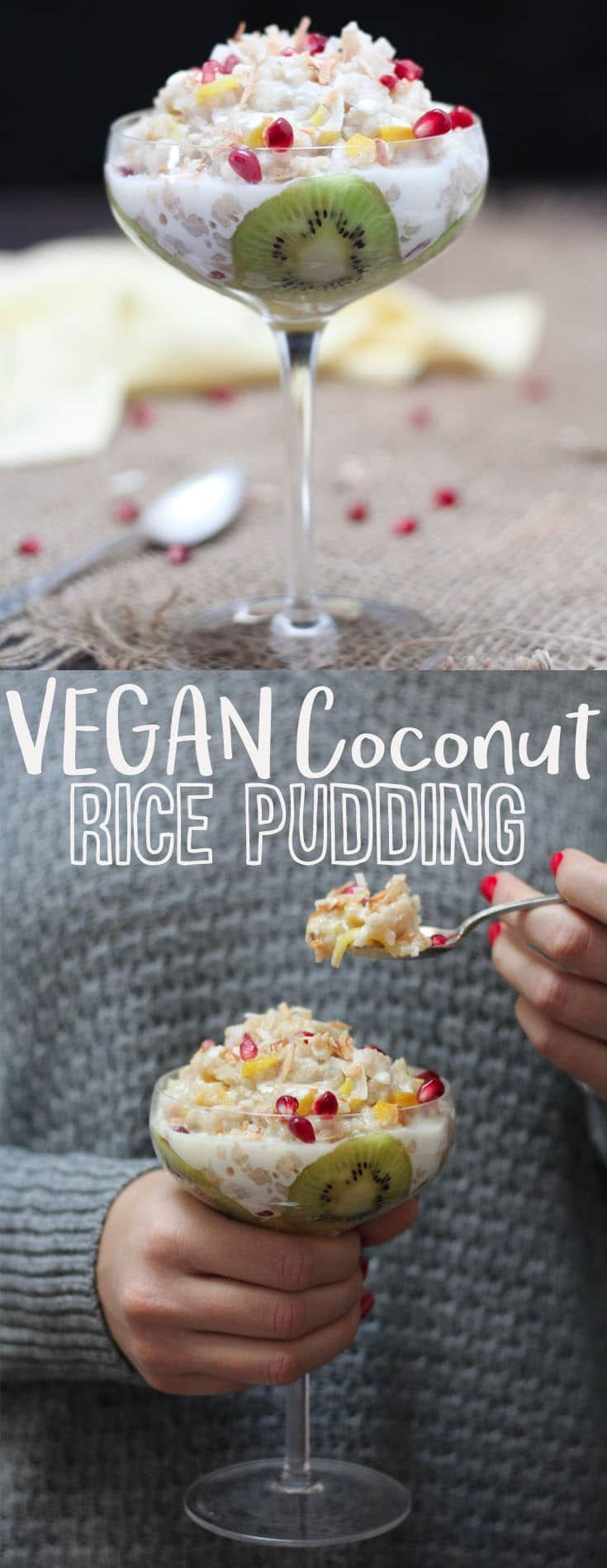 I share my favourite recipe for vegan coconut rice pudding ...