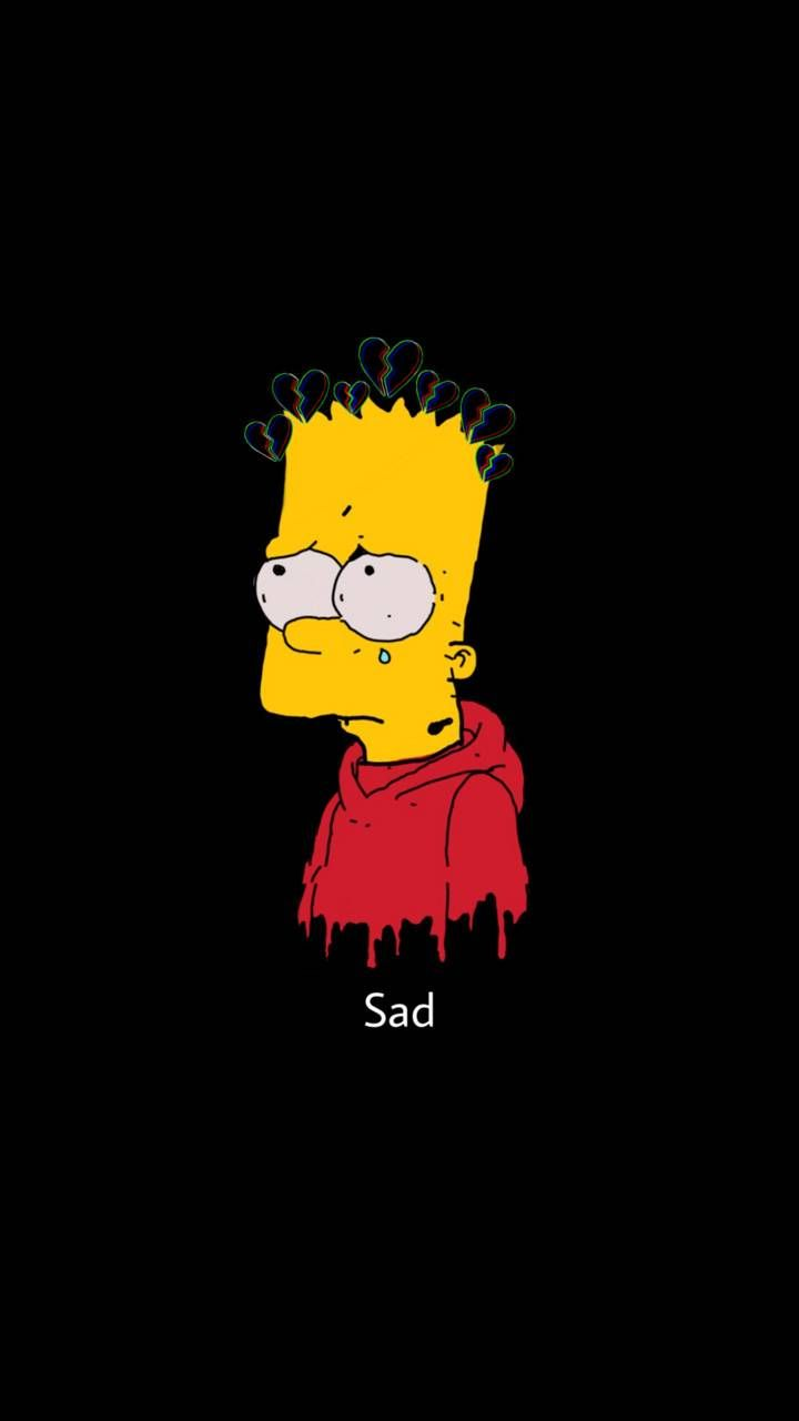 Bart Sad Wallpaper : wallpaper, Drawings