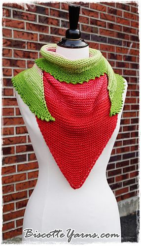 Watermelon Slice Shawl Free Knitting Pattern By Louise Robert In