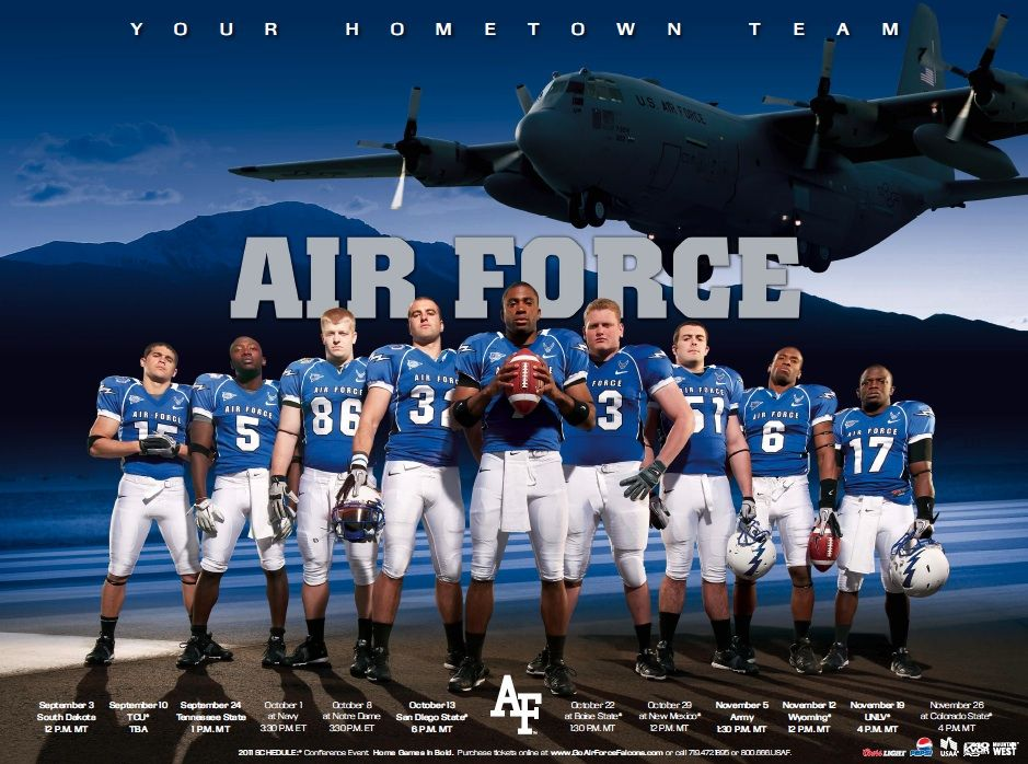 Air Force Falcons Football Football poster, Football
