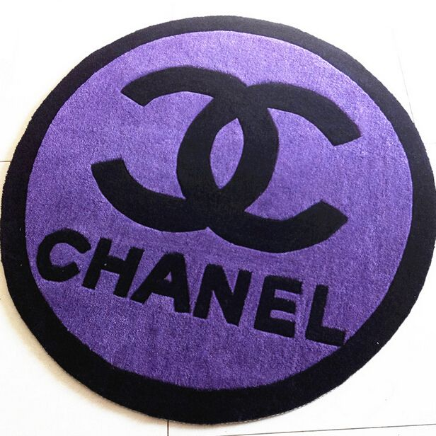 Pink Purple Black Chanel Area Rugs For Living Room Bedroom Round Acrylic Carpets