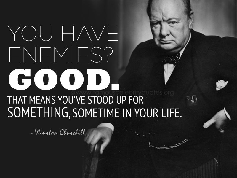 You Have Enemies Good That Means You Ve Stood Winston Churchill Quotes Churchill Quotes Winston Churchill