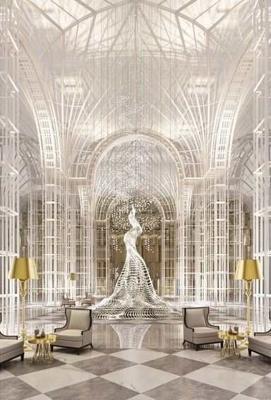 Silver Interior CHANEL HOTEL, Interior Design, Home Decor, Architecture,  Walls, Ceilings | A Touch Here And There | Pinterest | White Tiles,  Interiors And ...