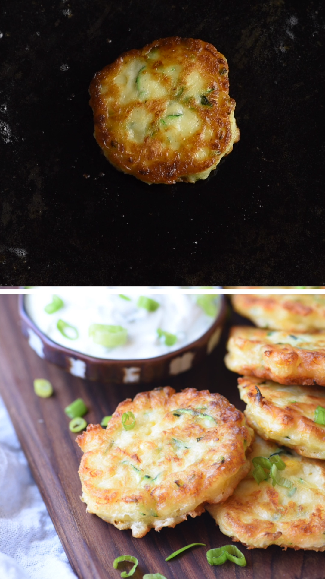 Zucchini Corn Fritters is part of Zucchini - Zucchini Corn Fritters are the perfect combination of two summer favorites, with a crispy exterior and soft inside  Served with a sour cream lime dipping sauce!