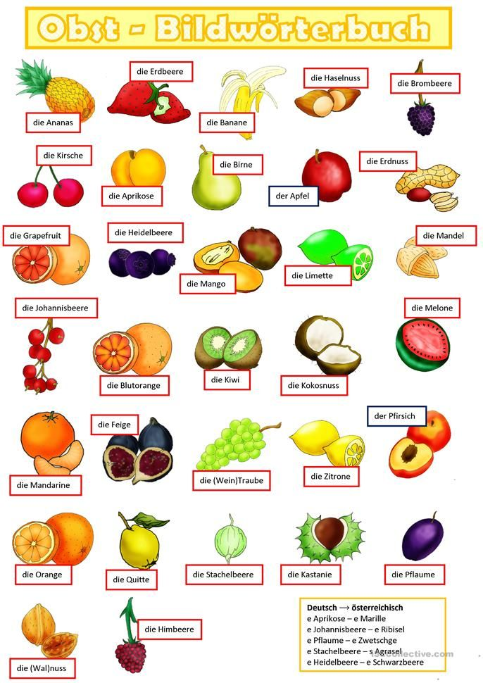 Obst 1. | Pinterest | Essen and Worksheets