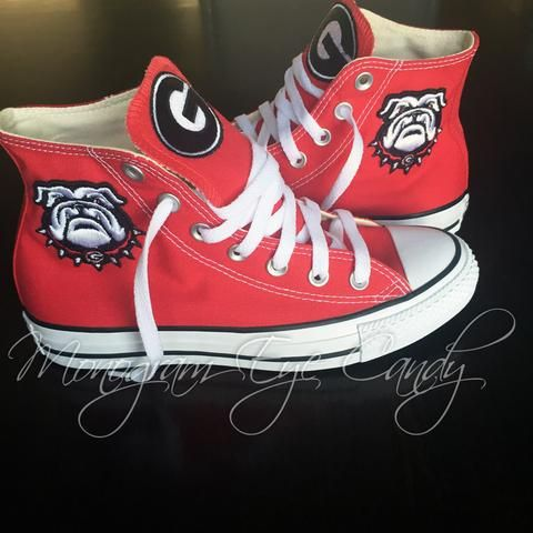 3af3c8ab0026 Customized Converse Sneakers- Georgia Bulldogs (Special Edition ...