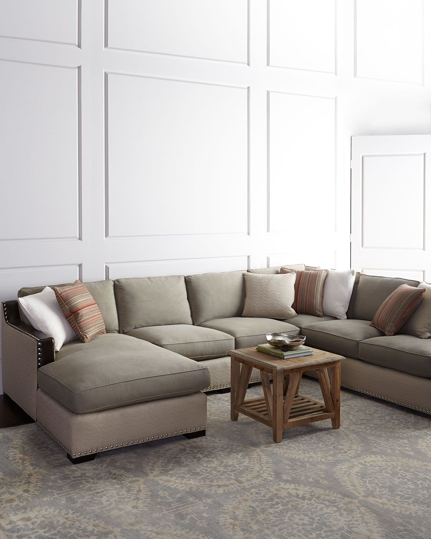 Clayton Three Piece Sectional, Tan/Brown   Neiman Marcus   *Furniture U003e  Sofas*   Pinterest   Third, Townhouse And Condos