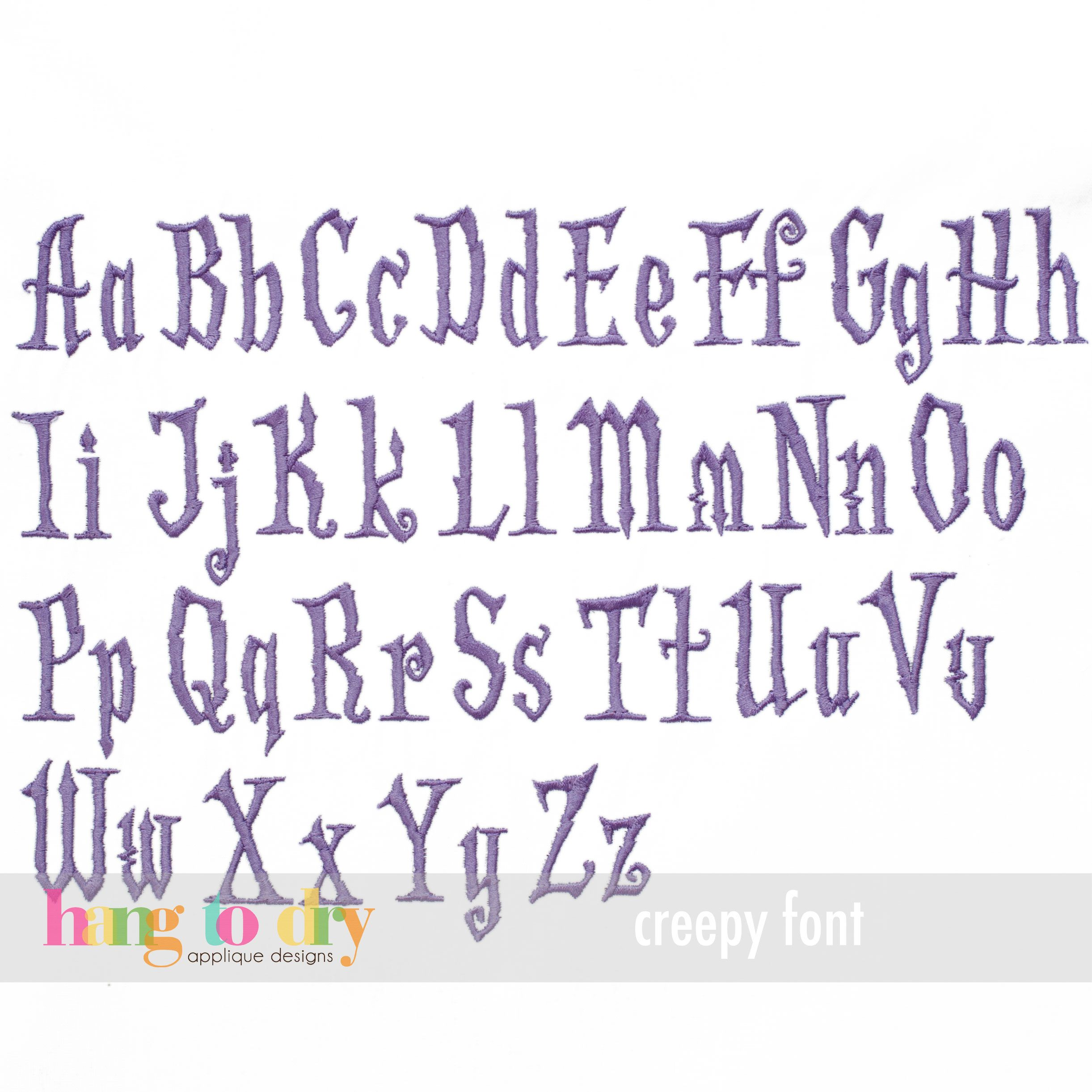 creepy font perfect for halloween - Halloween Writing Font