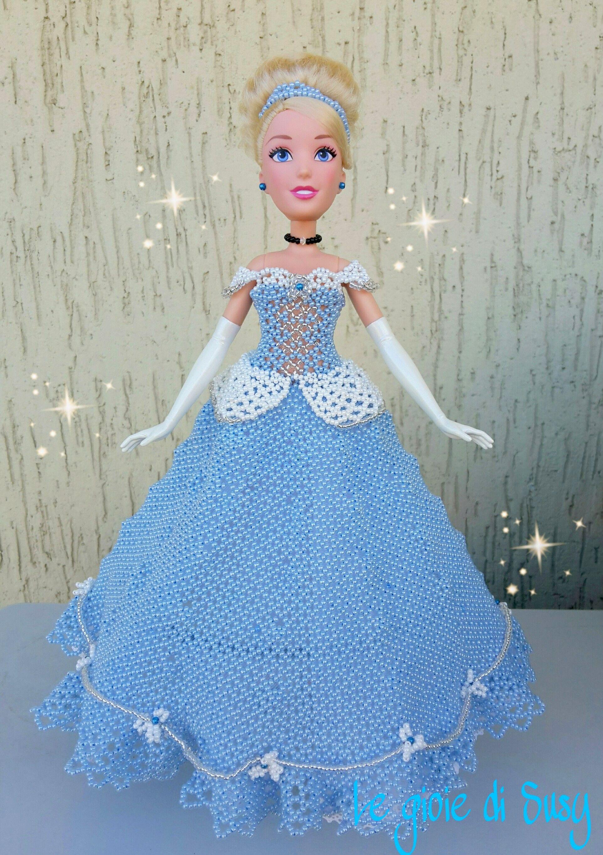 Cinderella - Cenerentola   Perlas   Pinterest   Vestidos de muñecas ...