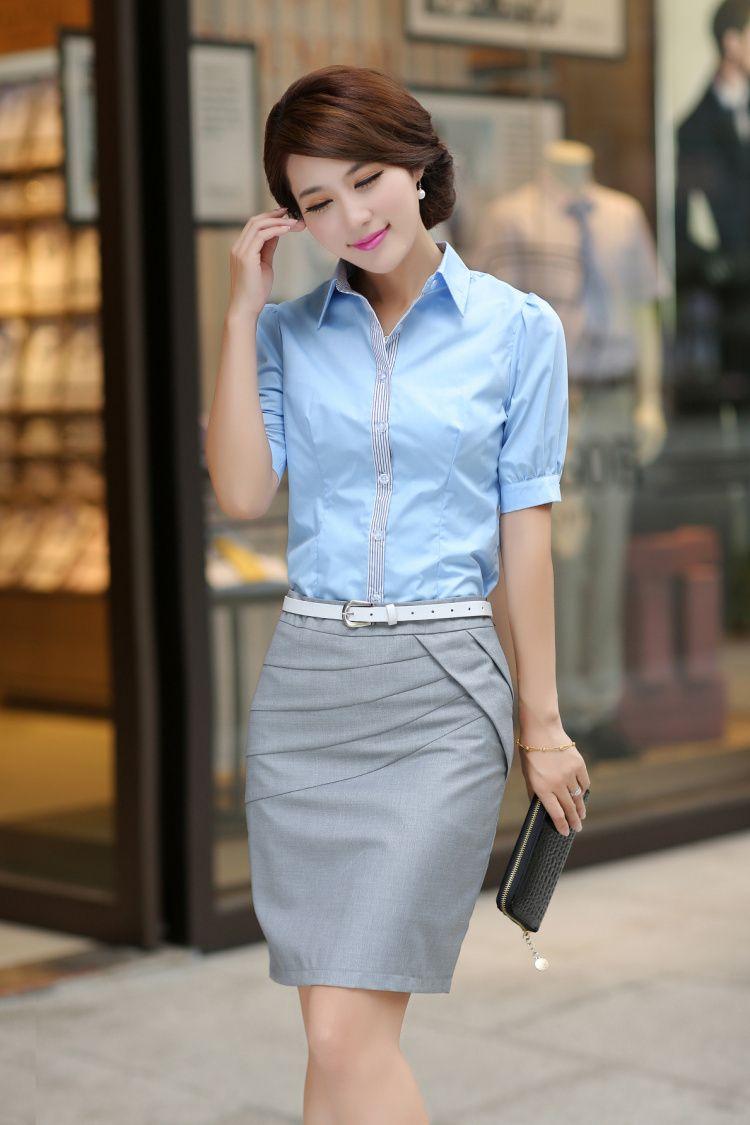 Free shipping 2013 summer cotton shirt white collar ol professional women work wear women's short-sleeve shirt