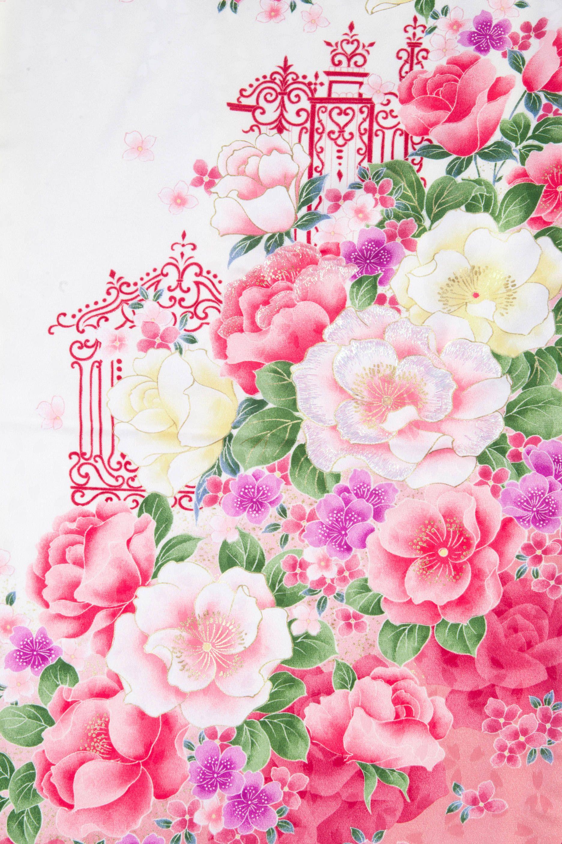 着物 No 831 商品名 白 バラ刺しゅう Http Haregi Com Detail Php