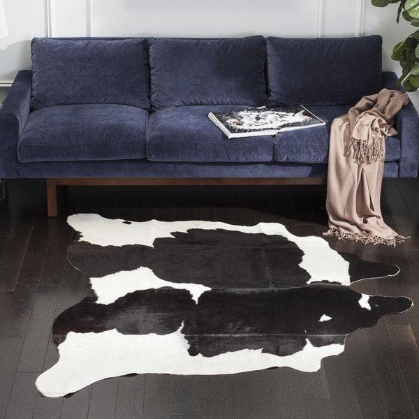 Safavieh Handmade Cow Hide Lorean Cabin Lodge Leather Rug