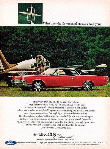 1967 Lincoln Continental Coupe Advertisement S Car History