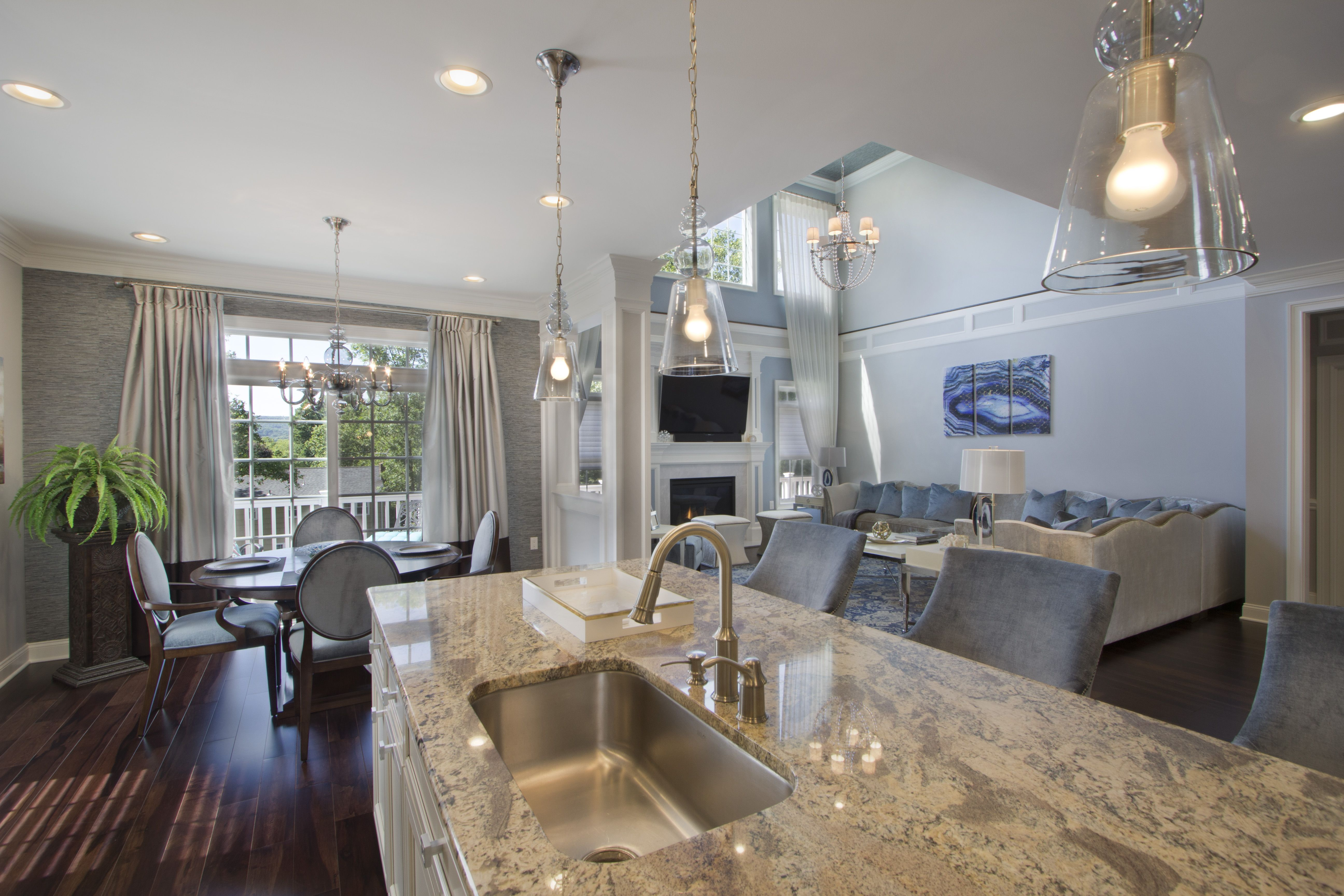 Beautiful kitchen counter designed by VDA in Morristown, NJ ...