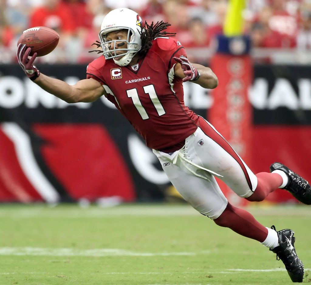 Wide receiver Larry Fitzgerald  11 of the Arizona Cardinals is unable to  catch a pass during the NFL game against the San Francisco 49ers at the  Universtity ... 4ebefae7f