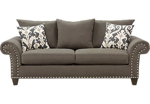 White Leather Sofa Shop for a Marymount Gray Sofa at Rooms To Go Find Sofas that will look