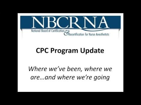 The CPC Program and CRNAs: What's New, What's the Same, What's Next - YouTube