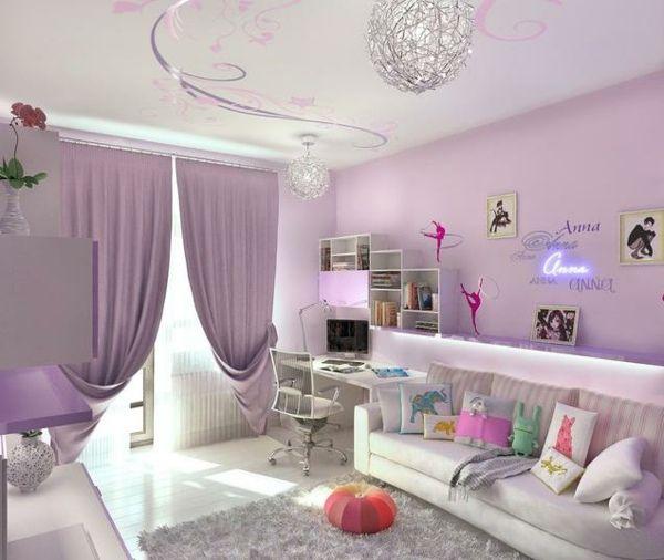 Teenager Zimmer Mädchen Ideen Hell Lila | Home | Pinterest